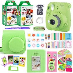 Image 4 - كاميرا Fujifilm Instax Mini 9 للطباعة الفورية على الصور مع 40 ورقة فيلم مصغر كاميرا الكتف حزام حقيبة الملحقات حزمة