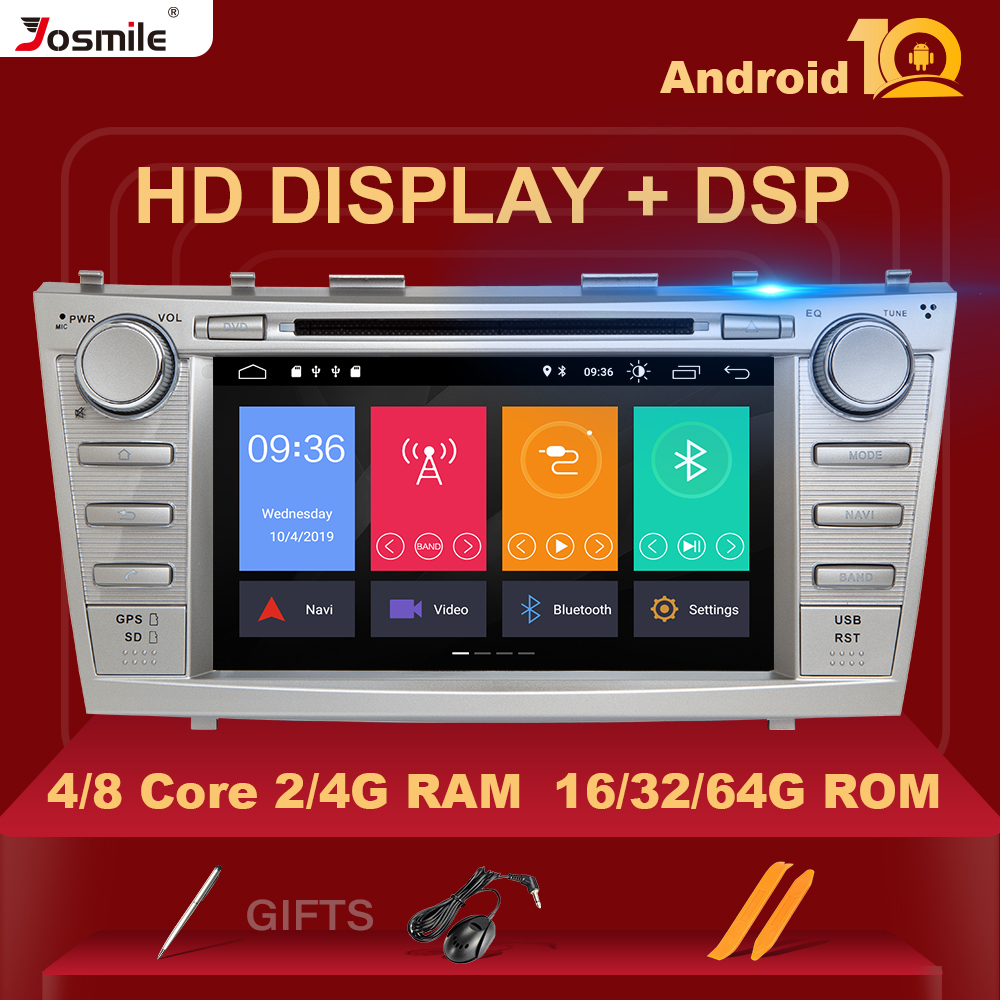 DSP <font><b>2</b></font> <font><b>Din</b></font> Android 10 Car DVD Player For Toyota Camry 2007 <font><b>2008</b></font> 2009 2010 2011 Aurion 2006 Multimedia GPS Navigation Radio Stereo image