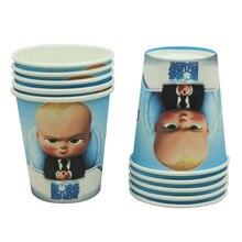 10 шт./упак. ребенок босс бумажные чашки для детей счастливый день рождения, детский душ одноразовые чашки вечерние Декор поставки