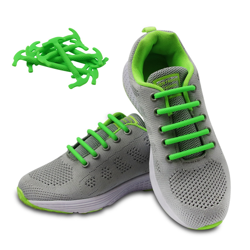 Elastic Silicone Lazy Shoelaces Athletic Running No Tie Shoelace Sneakers Shoeslace Shoestrings Casual Sport Shoelaces Unisex