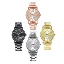 2020 ladies luxury watch stainless steel watch quartz watch ladies business watch quartz movement Relogio Feminino stainless steel business quartz watch