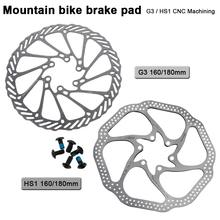 180mm/160mm 6 polegadas de aço inoxidável rotor disco freio para mtb mountain road cruiser bicicleta peças