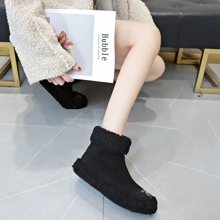 Women Boots 2019 New Plush Snow Boots For Winter Shoes Women Casual Lightweight Ankle Botas Mujer Warm Winter Boots Female 95