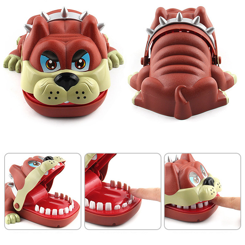 L Size Biting Dog Lucky French Bulldog Joke Gadgets Party Travel Game For Kids Children Adult Family Halloween Toy Game