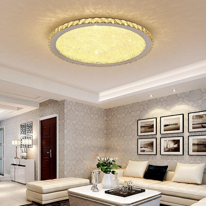 Modern Remote Control Crystal LED Ceiling Lights K9 Crystal Circular Square Ceiling Lamps For Living room Bedroom lights lustre