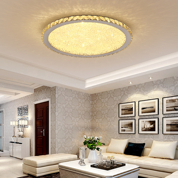 Modern Remote Control Crystal LED Ceiling Lights K9 Crystal Circular Square Ceiling Lamps For Living room Bedroom lights lustre modern k9 crystal led flush mount ceiling lights fixture mixed crystal home ceiling lamps for living room bedroom kitchen