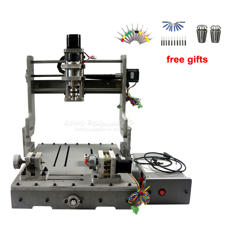 DIY Mini CNC 3040 3 Axis 4 Axis USB Port 300W Wood Milling Router Machine Mach3 57HS56 stepping motor ER11 Drill Chuck Collet|router machine|mini cnc 3040mini cnc - title=