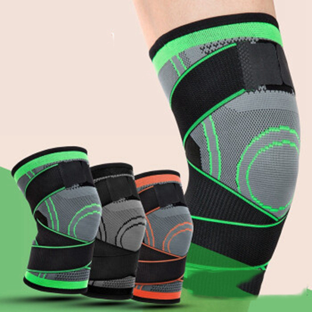 1 Pair Men Women Knee Support Compression Sleeves Joint Pain Arthritis Relief Running Fitness Elastic Wrap