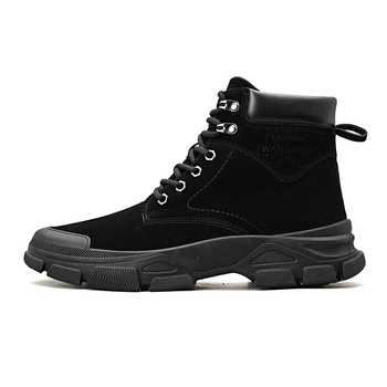 Fall and winter leather Martin boots, men's trend, mid-top vintage booties, high-top men's overalls, desert boots autumn and winter high socks martin wear british wind trend wild casual outdoor desert boots