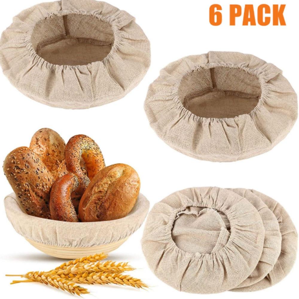 Bread Fermentation Basket Cloth Cover Set Lined Reusable Bread Fermentation Basket Cloth  for Baking Cake Pans