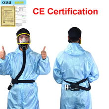 Respirator System Electric Constant Flow Supplied Air Fed Full Face Gas Mask Portable Spray Painting Tool Welding Helmet