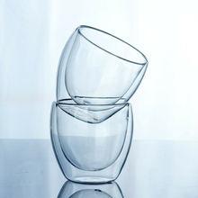 150-450 мл с двойными стенками Кофе Стекло Чай Изолированная кружка кофе эспрессо чашка пивной бокал вина питьевой воды