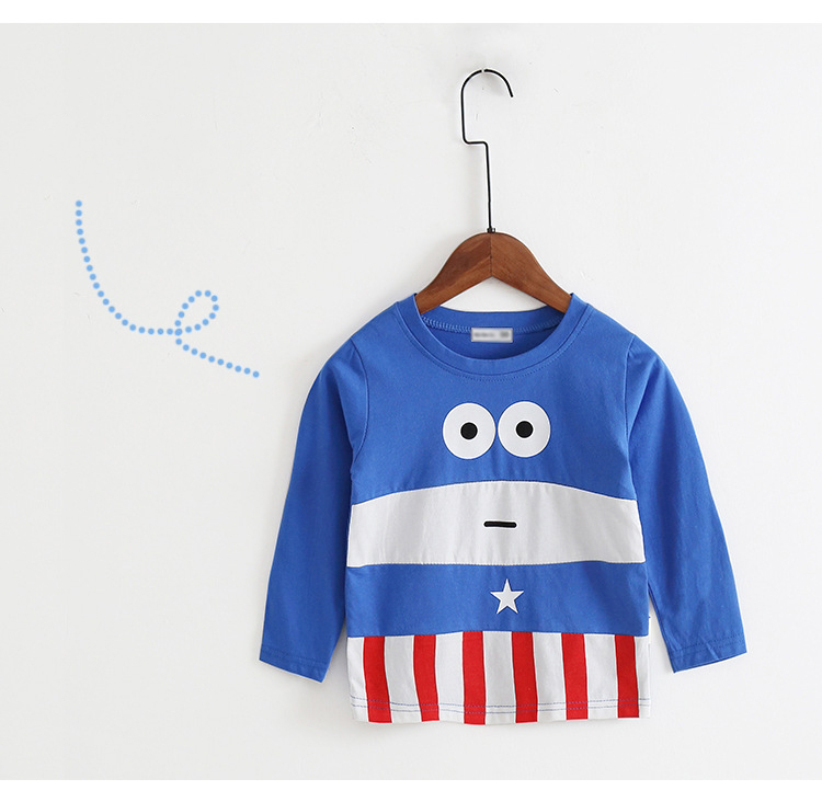 New Spring Boys Girls Cartoon Cotton T Shirts Children Tees Boy Girl Long Sleeve T Shirts Kids Tops Brand Baby Clothes 12M-8Y 41