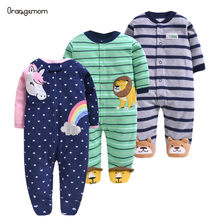 Orangemom official Newborn baby boys spring baby Rompers girls romper Infant fleece Jumpsuit for kids new born baby clothes(China)