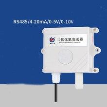 RS485 NO2 SensorโมดูลNO2เครื่องส่งสัญญาณเครื่องตรวจจับก๊าซ0 20PPM 0 2000PPM NO2 0 5V/0 10V/4 20MA 485โปรโตคอลGas Sensor