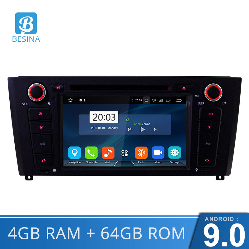 Besina 1 Din <font><b>Android</b></font> <font><b>9.0</b></font> Car DVD Player For <font><b>BMW</b></font> 1 Serie E81 E82 <font><b>E87</b></font> E88 I20 2004-2011 GPS Navigation Stereo Multimedia Radio image