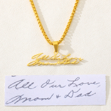 Customized Actual Handwriting Necklace Gold Stainless Steel Meaningful Personalized Signature Necklace Jewelry Gift For Mom