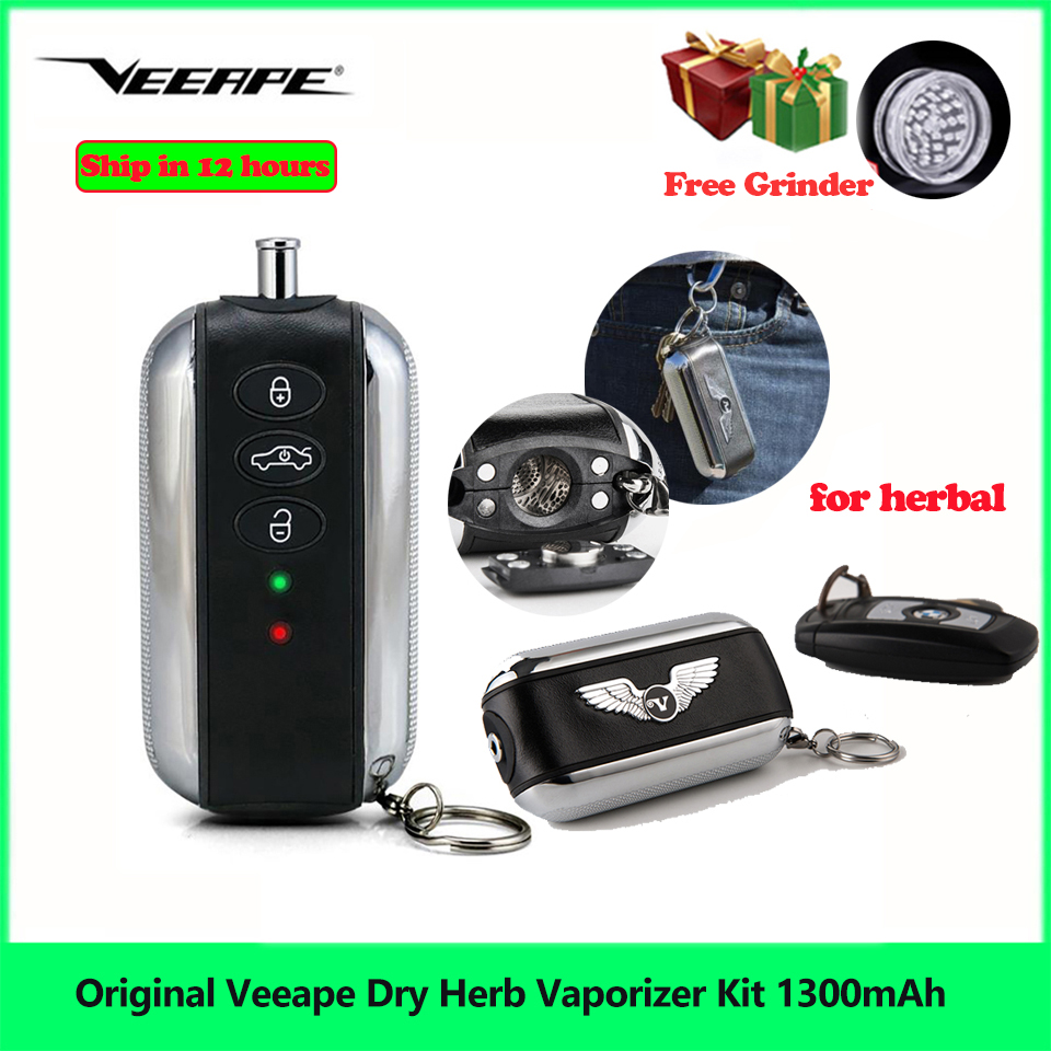Apuramento Veeape Herb Seco Vaporizador Starter Kit 1300mah E Cig Vape Caneta Caixa de Kit para Kit de ervas Tabaco vs nokiva AMAZE WOW Kit