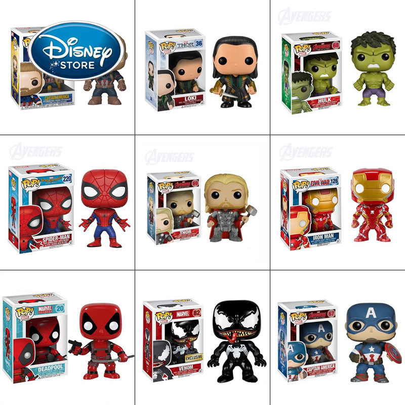 disney-font-b-marvel-b-font-funko-pop-action-figure-toys-pvc-iron-man-spiderman-thanos-super-hero-doll-collection-model-toy-for-children-gift