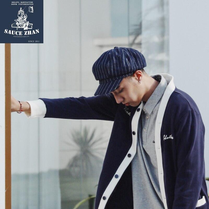 SauceZhan Newsboy Caps Cowboy Hat Newsboy Hat Vintage Striped Hat  Men Hats  Hats For Women  Hats Caps Men  Fashion Hat