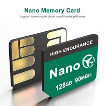 Новейшая карта памяти NM 2020, чтение 90 МБ/с. 128 гб, нано-карта памяти, применяется для телефона Huawei P40 P30 P30 Pro Mate30 Mate30Pro Mate20 Pro Mate20 X