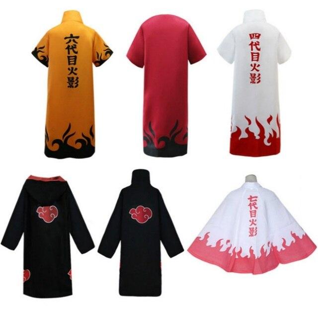 Uniforme manteau Anime Cosplay pour Naruto Yondaime Hokage Namikaze Minato Costume Kakashi Uzumaki Cape tenue Halloween fête tissu