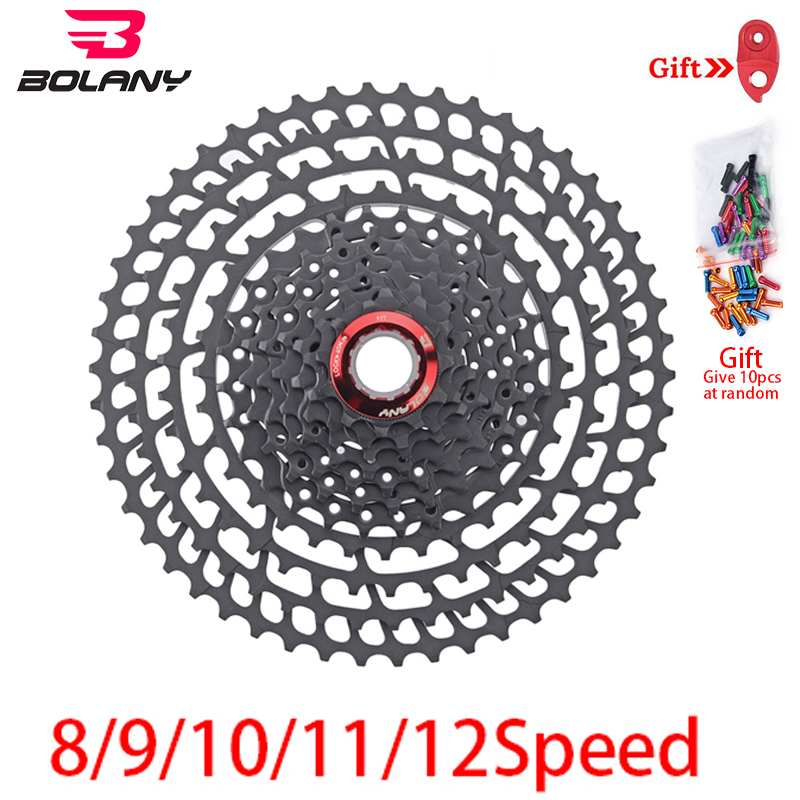 BOLANY MTB Cassette 8S/9S/10S/11S/12S 11-25 28 32 40 42 46 50 52T Sprockets Freewheel Wide Ratio Mountain Bicycle Accessories image