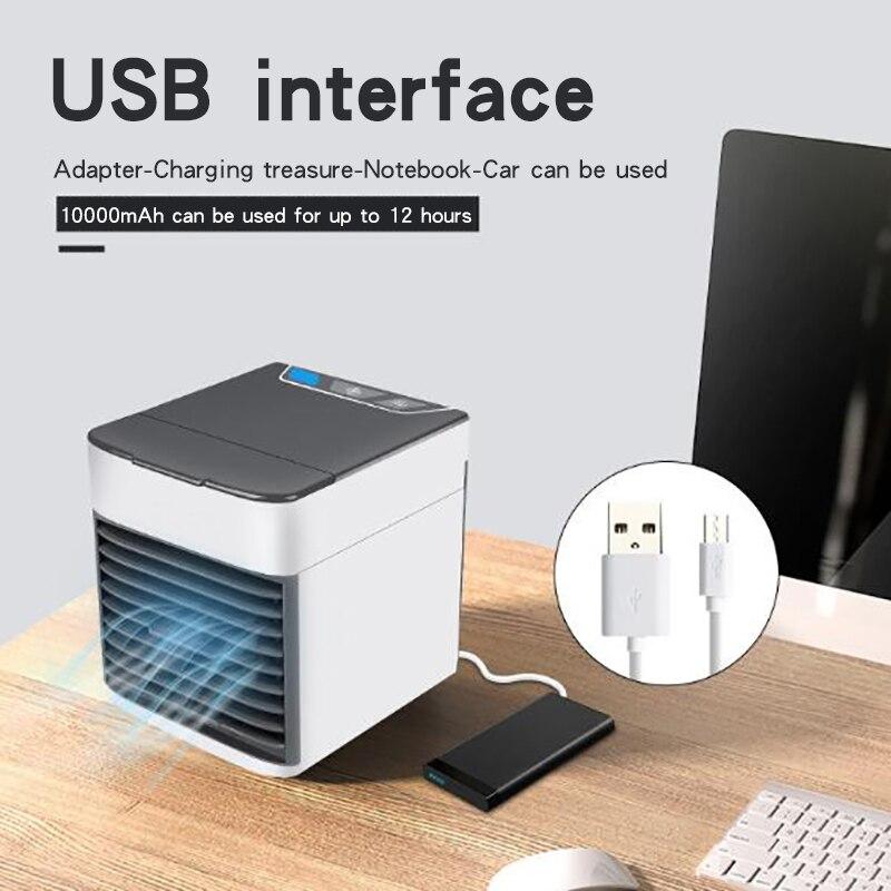 Air Cooler, Portable Air Conditioner Fan Noiseless Evaporative Air Humidifier, Personal Space Office Aire Acondicionado Portatil