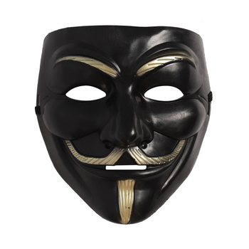 Masquerade Ball V For Vendetta Mask Anonymous Guy Fawkes Hacker Cosplay Horror Costume Halloween Accessory For Adults image