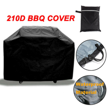 BBQ Cover Black Oversized Anti-Dust Waterproof Heavy Duty Grill Cover Garden Yard Rain