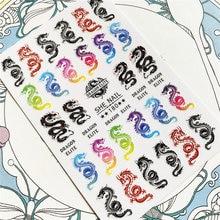 She 180 красочный Дракон 3d задняя наклейка наклейки слайдеры