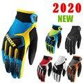 Перчатки велосипедные THOR, износостойкие дышащие Нескользящие митенки для бездорожья и гонок, для сенсорных экранов, восемь цветов