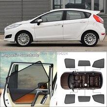 Car Side Windows Magnetic Sun Shade UV Protection Ray Blocking Mesh Visor For Ford fiesta hatchback
