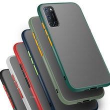 Para Oppo A92 caso para Oppo A52 A72 A52 A5 A9 2020 funda de silicona 92 72 52 9 5 mate transparente a prueba de golpes a prueba teléfono caso