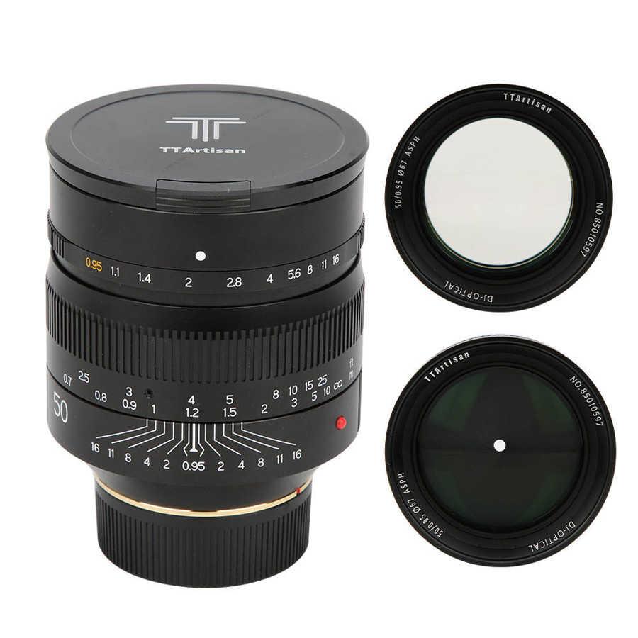 Объектив TTartisan 50 мм F0.95 для камеры Leica M Mount, полнокадровая ручная фокусировка, Большая диафрагма для Leica M9 M10 50/0.95