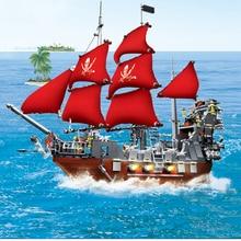 Legoing Movies 2 Pirates Of The Caribbean Ship Captain Jack Figures Creator Black Beard Boat Model Set Building Blocks Kid Toys compatible lepin legoing pirate ship 4148 lepin 16006 804pcs legoing movies pirates of the caribbean pirate ship building block