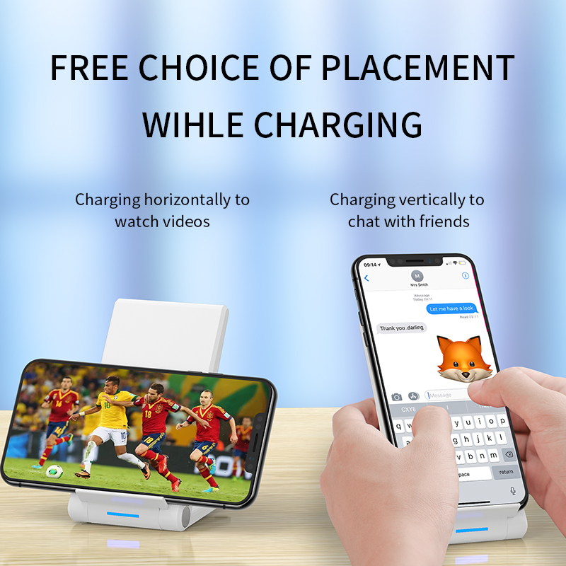 Image 4 - iHaitun 15W Qi Wireless Charger Type C Quick Charge 3.0 4.0 Stand Phone Holder Pad For iPhone 11 Pro Max Samsung Galaxy S10 USBMobile Phone Chargers   -