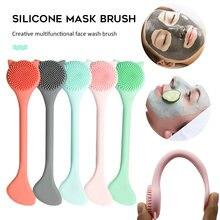 Мягкая силиконовая щетка для мытья с маской палочка перемешивания