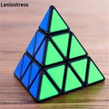 Lesiostress Originele 3X3X3 Piramide Magische Kubus Piramide Cubo Magico Professionele Puzzel Onderwijs Speelgoed Voor Kinderen