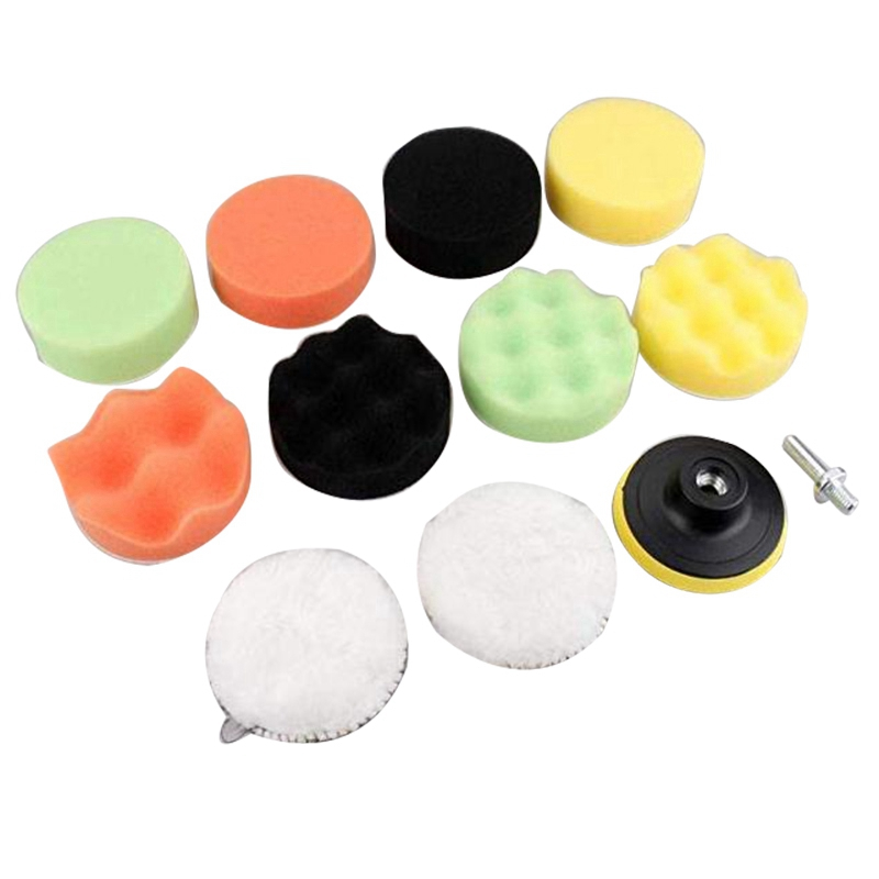 12Pcs Car Polishing Pads Sponge Buffing Polishing Pad Kit For Car Polisher With M10 Drill Adapter Cleaning Tool