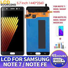 """5.7 """"AMOLED لسامسونج نوت FE LCD عرض N935F N935F/DS شاشة تعمل باللمس محول الأرقام الجمعية لسامسونج نوت 7 LCD N930F استبدال"""