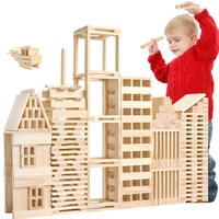 100Pcs/set Building Blocks Montessori Kids Toy Baby Jenga Learning Educational Preschool Training Bricks Gift For Children