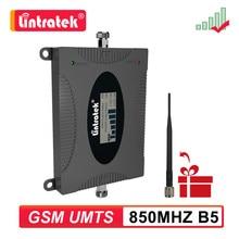 Lintratek 2g 3g gsm cdma telefone celular repetidor 850 mhz amplificador de sinal móvel celular booster b5 850 mhz acessórios com antena