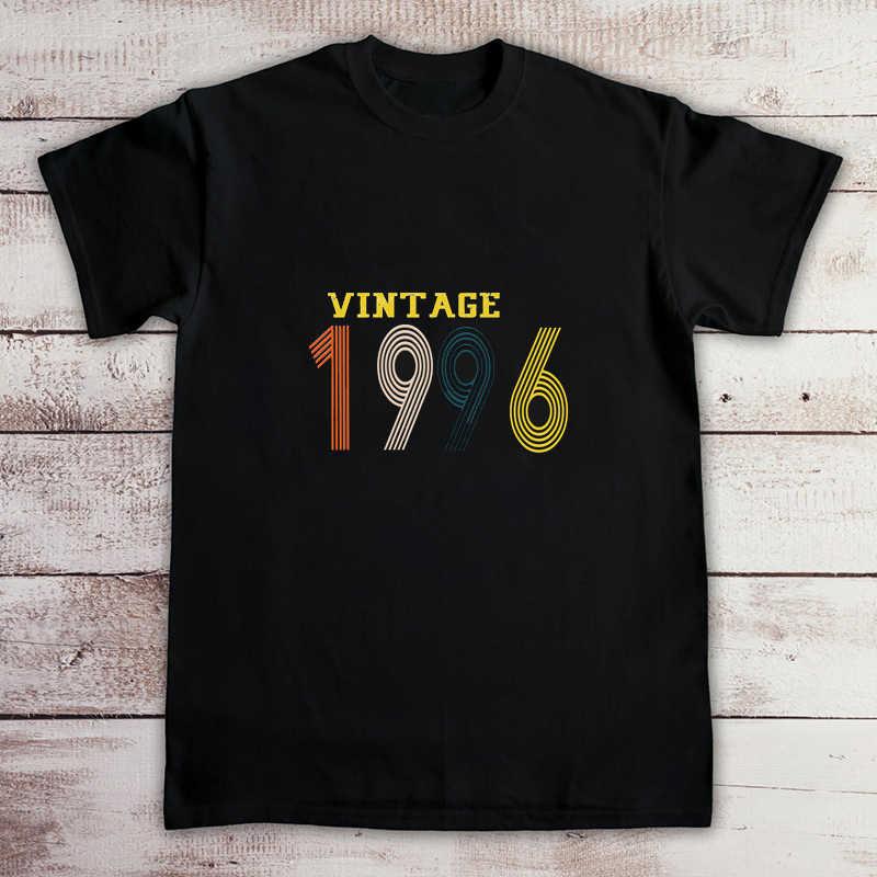 Vintage 1996 T gömlek Tops kaliteli yaz komik gömlek erkekler kadınlar yazlık t-shirt erkek gömlek estetik elbise