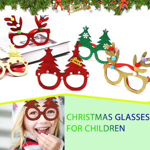 Xmas Ornaments Glasses Plastic Christmas Decor Festival Props Christmas Glasses Frames Fashion Party Supplies Kindergarten