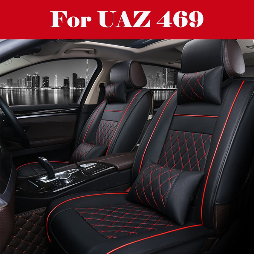 All PU Leather Car Leather Support Pad Car Seat Covers Cushion Accessories Auto Covers for Cars Seat Cover For <font><b>UAZ</b></font> <font><b>469</b></font> image