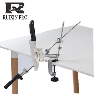 Image 3 - Ruixin pro aluminium messenslijper systeem 360 graden flip Constante hoek Slijpen gereedschap Grinder machinewith 4 stuks stenen