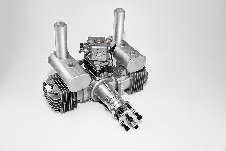 Neue RCGF 70cc Twin Zylinder Benzin/Benzin Motor Dual Zylinder mit Schalldämpfer/Igniton/Zündkerze für RC modell Flugzeug - 2