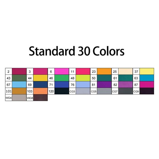 30 Standard colors