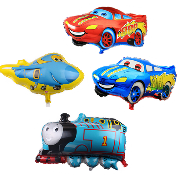 Cartoon Hat Car Train Thomas Balloon Aluminum Foil Foil Aluminum Film Children's First Birthday Party Decoration Hat